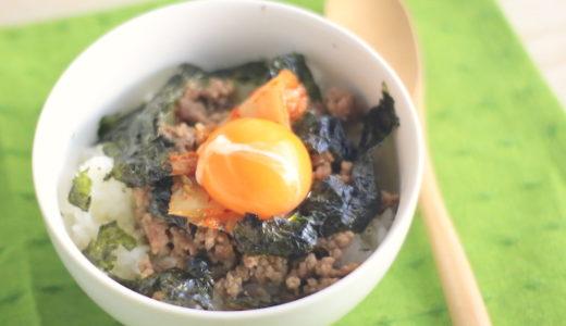 ひき肉の簡単丼レシピ