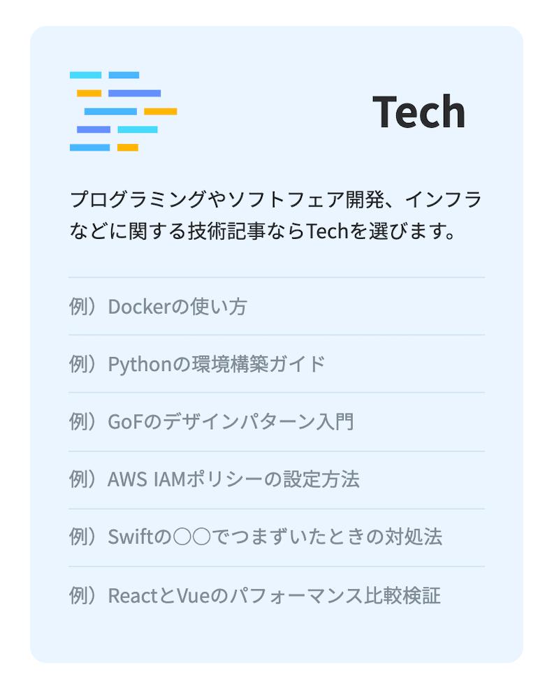 Techカテゴリー