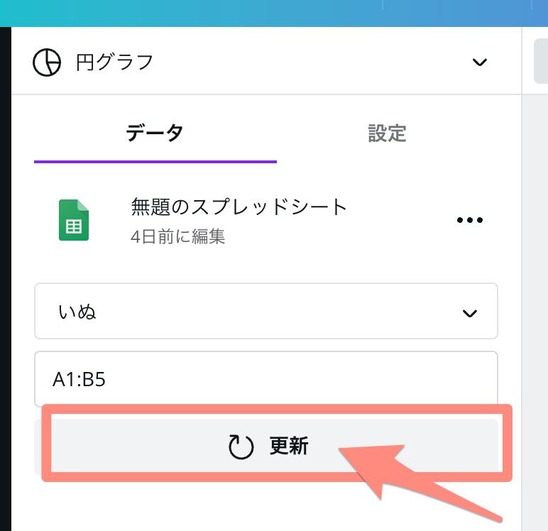 更新をクリック
